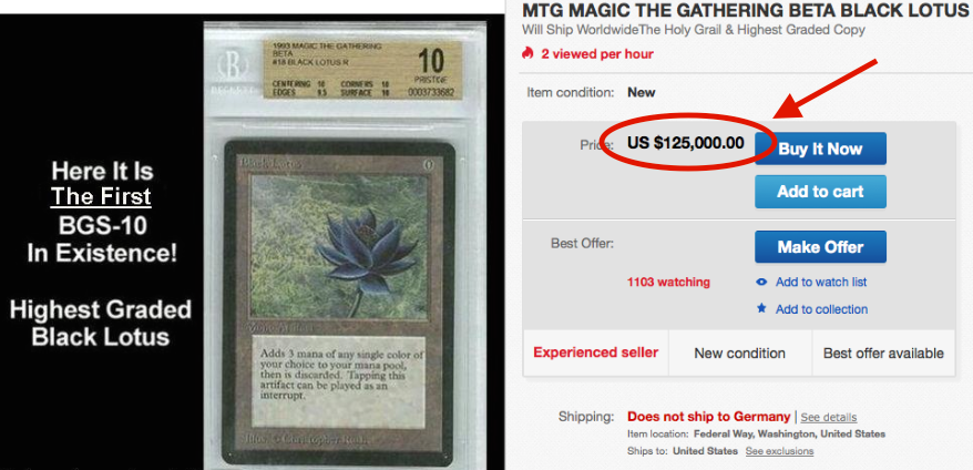 BGS10 Beta Black Lotus Magic
