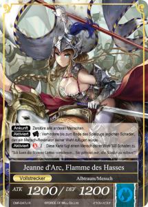 Jeanne d'Arc, Flamme des Hasses