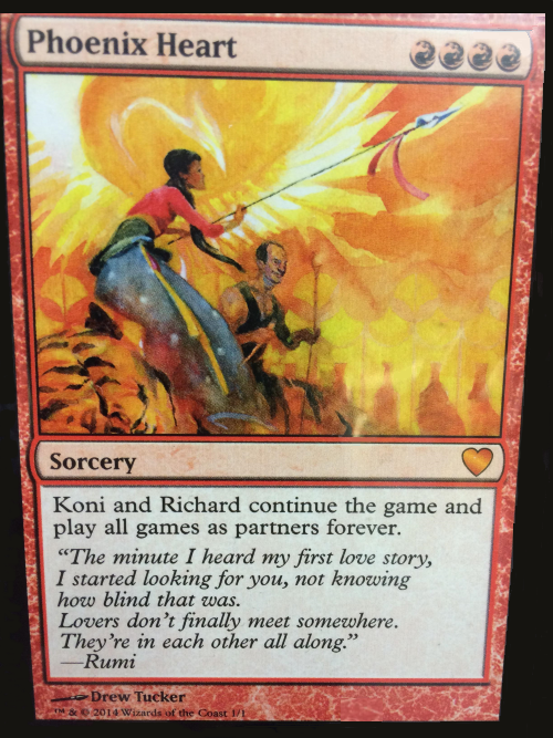 Phoenix Heart Magic Card