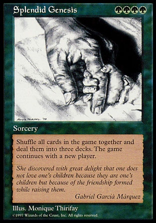 Splendid Genesis Magic Card